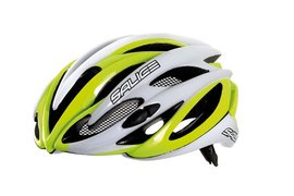 přilba SALICE BOLT yellow fluo/white - 54-59 cm