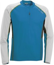 triko Salomon Trail Runner LS zip modré - M